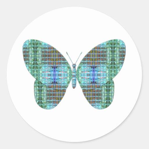 jewel butterfly envelope seals round sticker