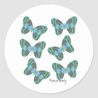 jewel butterfly envelope seals classic round sticker