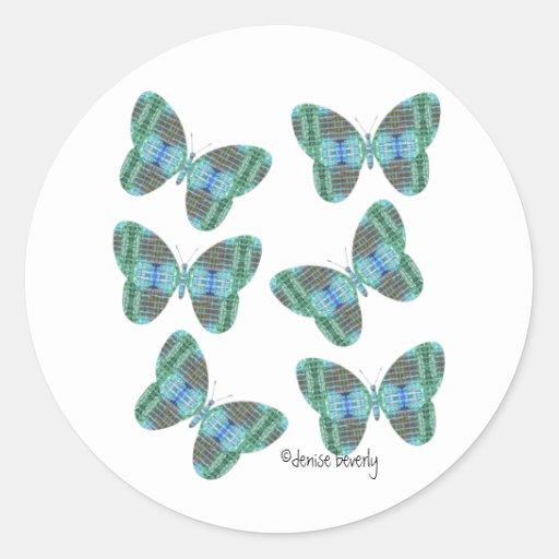 jewel butterfly envelope seals stickers
