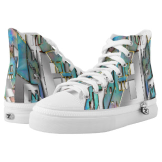 Jewel City High Top Shoes Printed Shoes