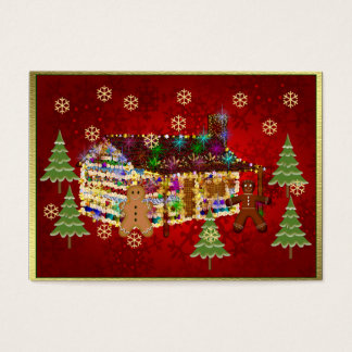 Jewel-Covered Gingerbread House Business Card