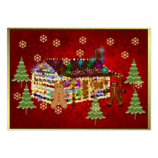 Jewel-Covered Gingerbread House Business Cards