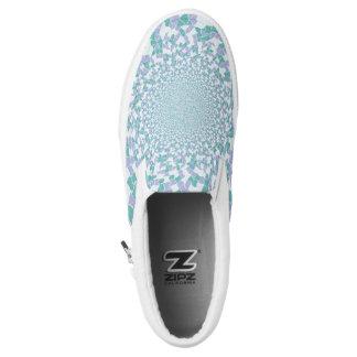 Jewel Dazzle Design Shoe Blue Printed Shoes