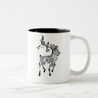 Jewel Deer Two-Tone Coffee Mug