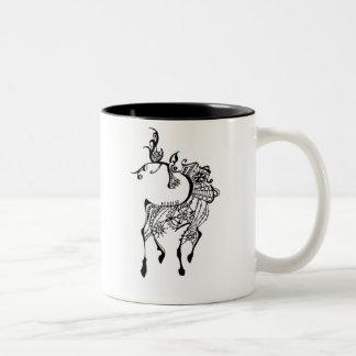 Jewel Deer Two-Tone Mug