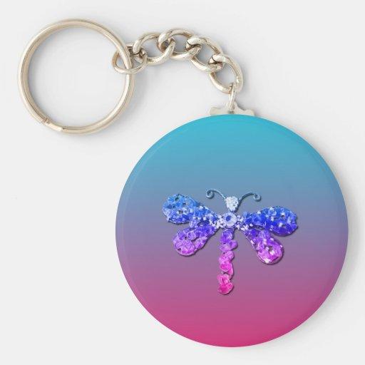 Jewel Dragon Fly Sparkle Customize pretty Keychain