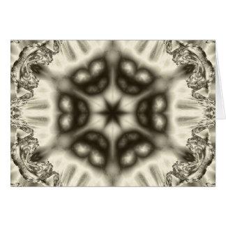 Jewel kaleidoscope in browns horizontal card