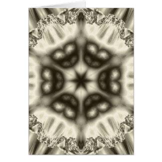 Jewel kaleidoscope in browns vertical card