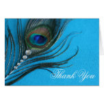 Jewel Peacock Feather Thank You