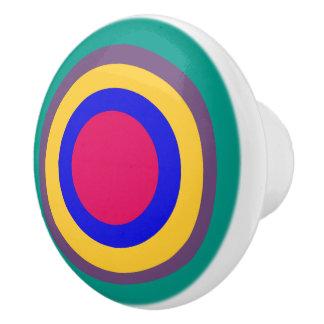 Jewel Polka Dots on Turquoise Ceramic Knob