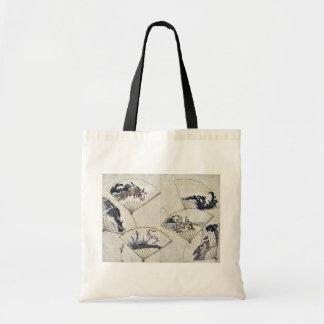 Jewel river in fan paste ups by Katsushika,Hokusai Tote Bag