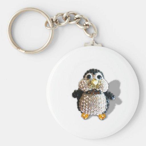 Jewel Sparkle Penguin Cute Pretty Keychains
