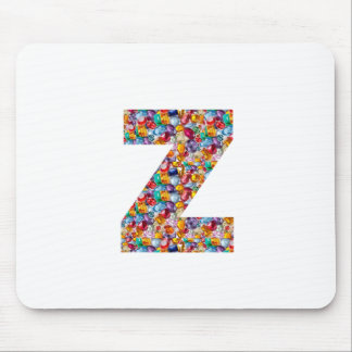 Jewel Stone Studded Alpha ZZZ z ZZ  Birthday Gifts Mouse Pad