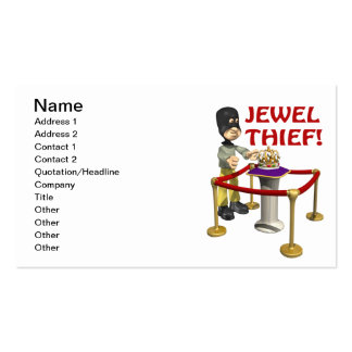 Jewel Thief Pack Of Standard Business Cards