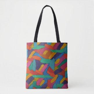 Jewel Tone Brushstrokes Tote Bag