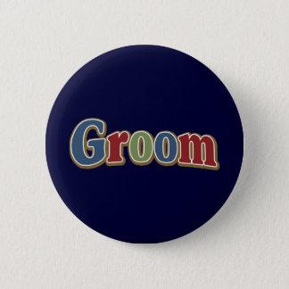 Jewel Tone Groom 6 Cm Round Badge