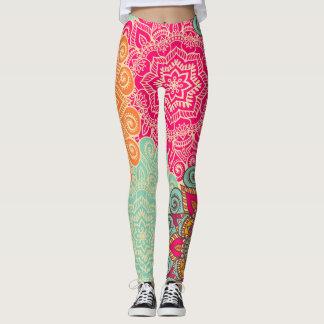Jewel Tone Mandala Custom Women's Leggings