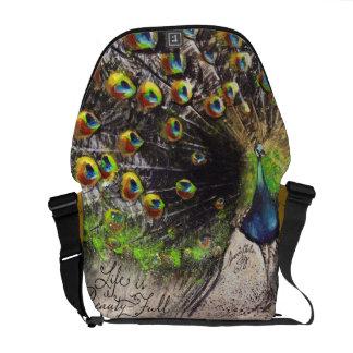 Jewel Tone Peacock Beauty~Full Bag Courier Bag