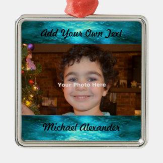 Jewel Tone Photo Ornament