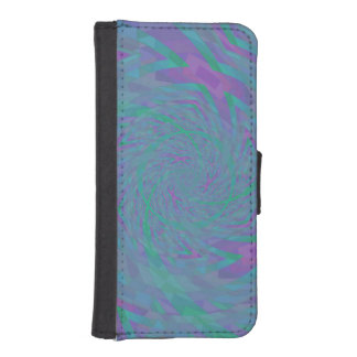 Jewel Tone Spiral iPhone SE/5/5s Wallet Case