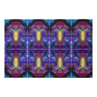 Jewel-toned abstract wood print