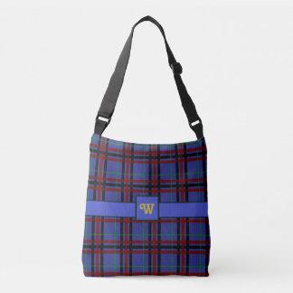 Jewel-Toned Plaid All-Over-Print Bag