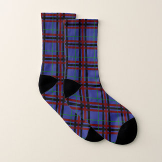 Jewel-Toned Plaid Socks