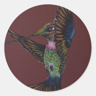 Jewel toned sword billed hummingbird sticker