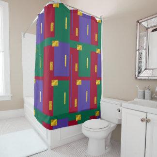 Jewel Tones Modern Geometric Shower Curtain