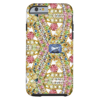 Jeweled Abstract Design Tough iPhone 6 Case