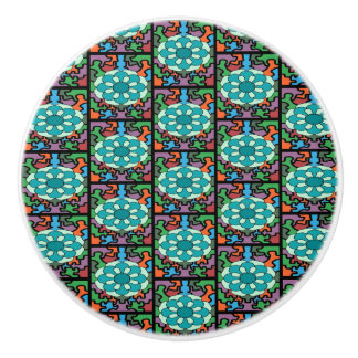 Jeweled Aqua Ceramic Knob