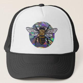 jeweled bee trucker hat