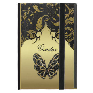 Jeweled Butterfly Damask iPad Mini Case