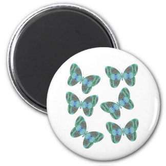 Jeweled Butterfly illustration Refrigerator Magnets
