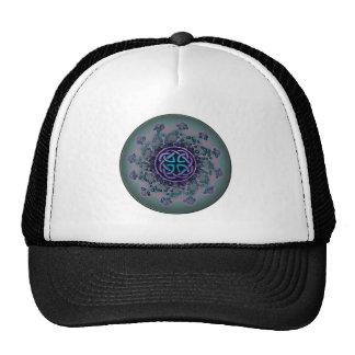 Jeweled Celtic Fractal Mandala Mesh Hat