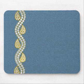 Jeweled - denim mouse pad