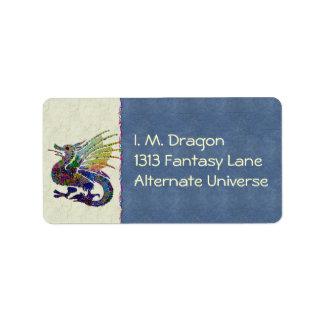 Jeweled Dragon Address Label