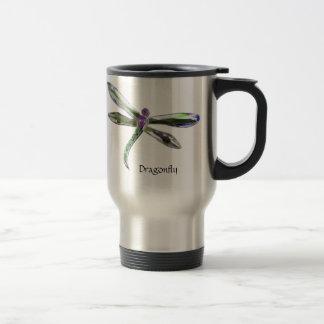 Jeweled Dragonfly Travel Mug