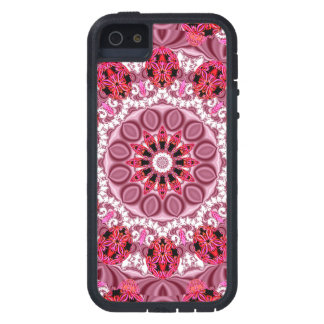 Jeweled Fans, Abstract Lace Candy, Red Pink Rose Case For iPhone 5
