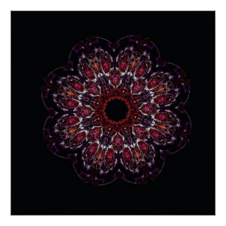 Jeweled flower poster