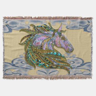 Jeweled Horse, Throw Blanket