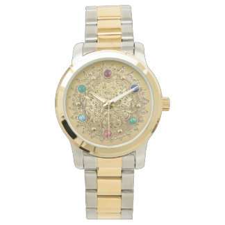 Jeweled Medallion Watch