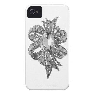 Jeweled & Rhinestone Faux IPhone 4 Case
