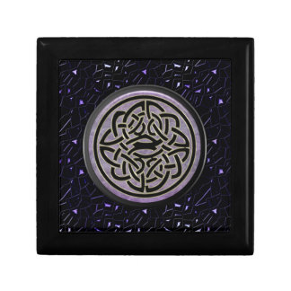 Jeweled Sky with Celtic Knot in Black and Gold Gift Box