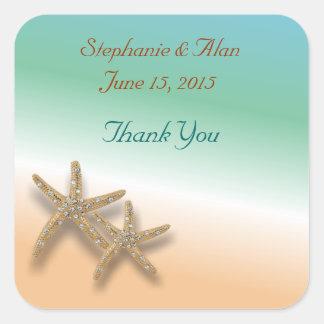 Jeweled Starfish Thank You Stickers