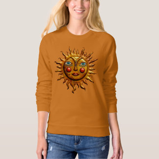 Jeweled Sun, American Apparel Raglan Sweatshirt