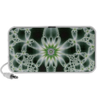 Jeweled tones of green iPhone speaker design.
