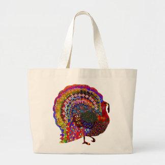 Jeweled Turkey Jumbo Tote Bag