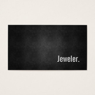 Jeweler Cool Black Metal Simplicity Business Card