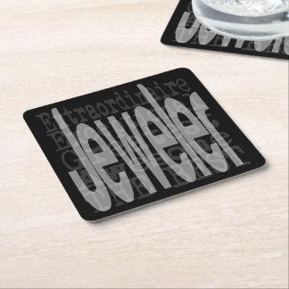 Jeweler Extraordinaire Square Paper Coaster
